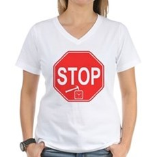 Stop! Hammer Time! Womens V-Neck T-Shirt