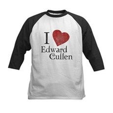 I Love Edward Cullen Kids Baseball Jersey
