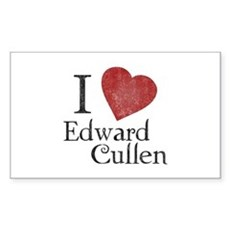 I Love Edward Cullen Rectangle Sticker