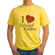 I Love Edward Cullen Yellow T-Shirt