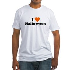 I Love [Heart] Halloween Fitted T-Shirt