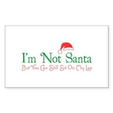 I'm Not Santa Rectangle Sticker