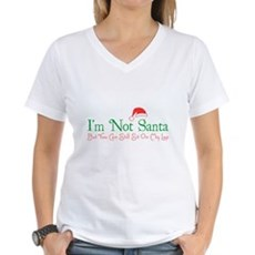 I'm Not Santa Womens V-Neck T-Shirt
