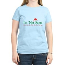 I'm Not Santa Womens Light T-Shirt