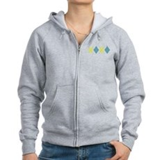 Argyle Business Casual Womens Zip Hoodie