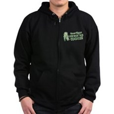 I've Got the Cooties Zip Dark Hoodie
