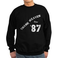 Thank Heaven for '87 Dark Sweatshirt