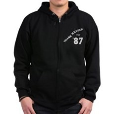 Thank Heaven for '87 Zip Dark Hoodie