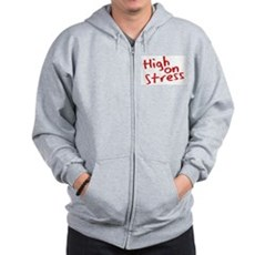 High on Stress Zip Hoodie