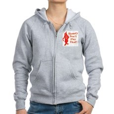 Homey Don't Play That! Womens Zip Hoodie