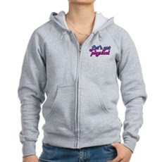 Let's get physical Womens Zip Hoodie