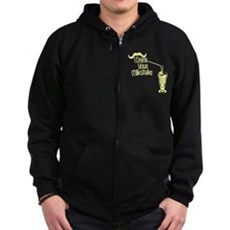 I Drink Your Milkshake Zip Dark Hoodie
