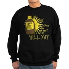 The Sun Tries to Burn Me Dark Sweatshirt