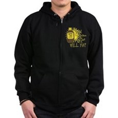 The Sun Tries to Burn Me Zip Dark Hoodie