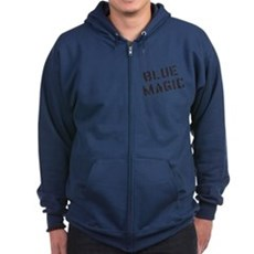 Blue Magic Zip Dark Hoodie