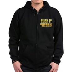 Suck it Trebek! Zip Dark Hoodie