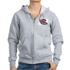 Stuart - What does mama say? Womens Zip Hoodie