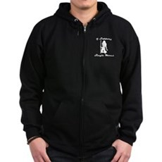 I Support Single Moms Zip Dark Hoodie