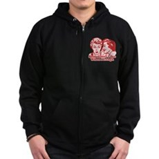 Sometimes I Pee When I Laugh Zip Dark Hoodie