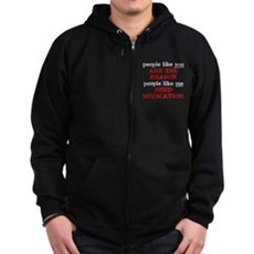 People Like You.. Medication Zip Dark Hoodie