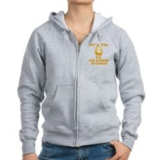 Fat Kids are Harder to Kidnap Womens Zip Hoodie