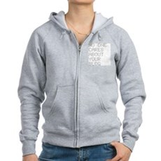 No One Cares About Your Blog Womens Zip Hoodie