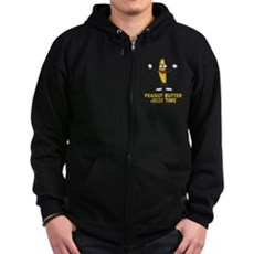 Peanut Butter Jelly Time Zip Dark Hoodie