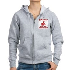 Rock Out With Your Joystick O Womens Zip Hoodie