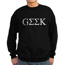 Geek in Greek Letters Dark Sweatshirt