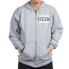 Geek in Greek Letters Zip Hoodie