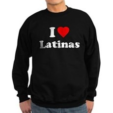 I Love [Heart] Latinas Dark Sweatshirt