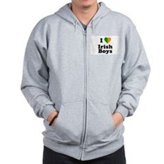I Love Irish Boys Zip Hoodie