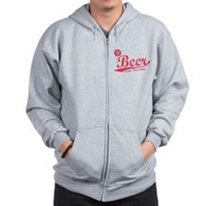 Beer, Cheaper Than Gas Zip Hoodie