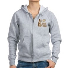 I Love Road Soda Womens Zip Hoodie