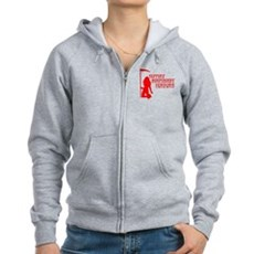 Support Independent Horrors Womens Zip Hoodie