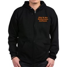 This is my Halloween costume Zip Dark Hoodie