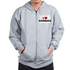I Love [Heart] Zombies Zip Hoodie
