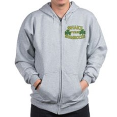 Shake Your Shamrocks Zip Hoodie