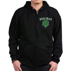 Irish Hooligan Zip Dark Hoodie