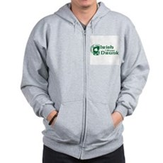Irish I Were Drunk Zip Hoodie