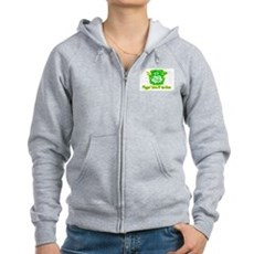 Flippin' Luck O' the Irish Womens Zip Hoodie