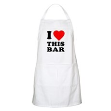 I Love This Bar BBQ Apron