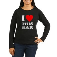 I Love This Bar Womens Long Sleeve T-Shirt
