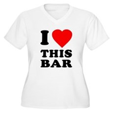 I Love This Bar Plus Size V-Neck Shirt