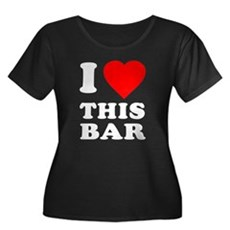 I Love This Bar Womens Plus Size Scoop Neck Dark