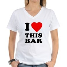 I Love This Bar Womens V-Neck T-Shirt