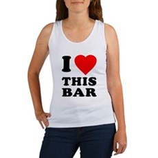 I Love This Bar Womens Tank Top