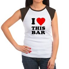 I Love This Bar Womens Cap Sleeve T-Shirt