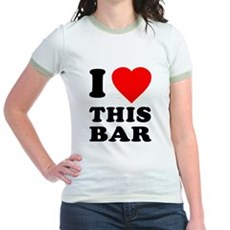 I Love This Bar Jr Ringer T-Shirt