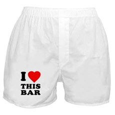 I Love This Bar Boxer Shorts